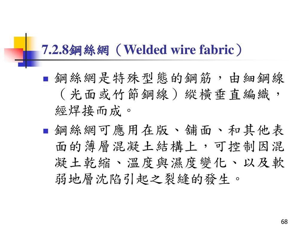 7.2.8鋼絲網(Welded wire fabric)