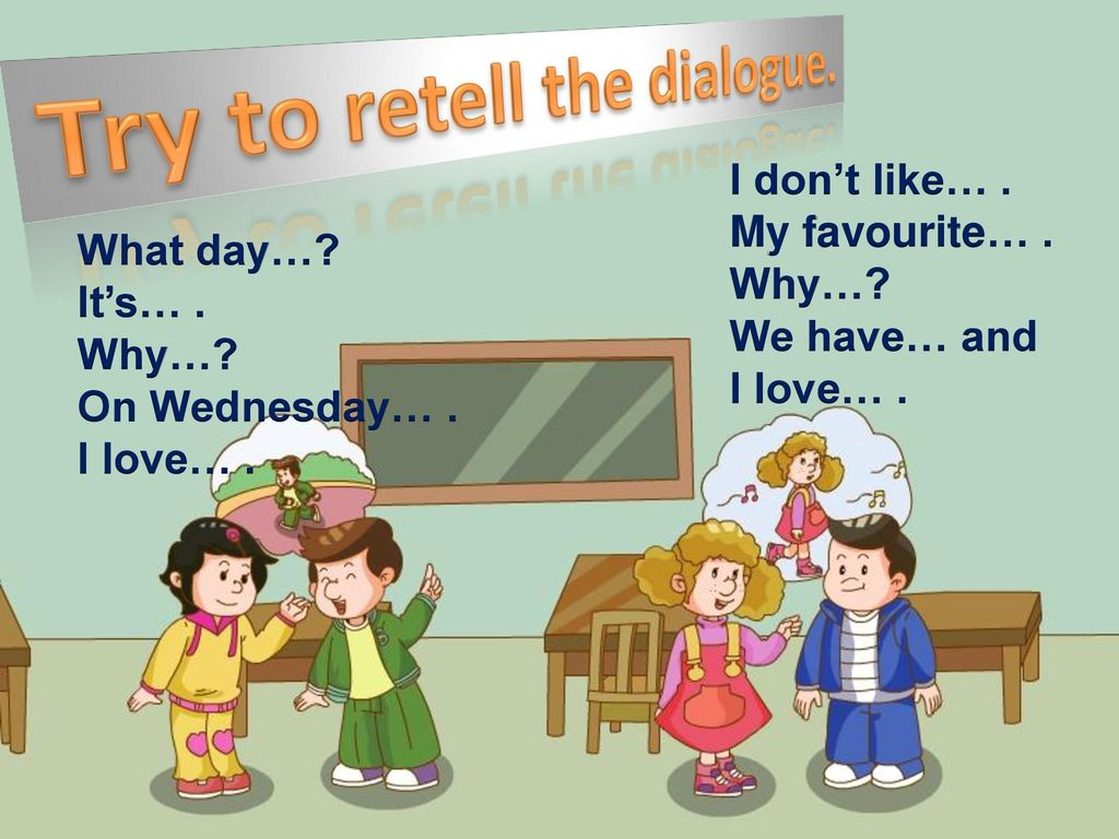 Try to retell the dialogue.