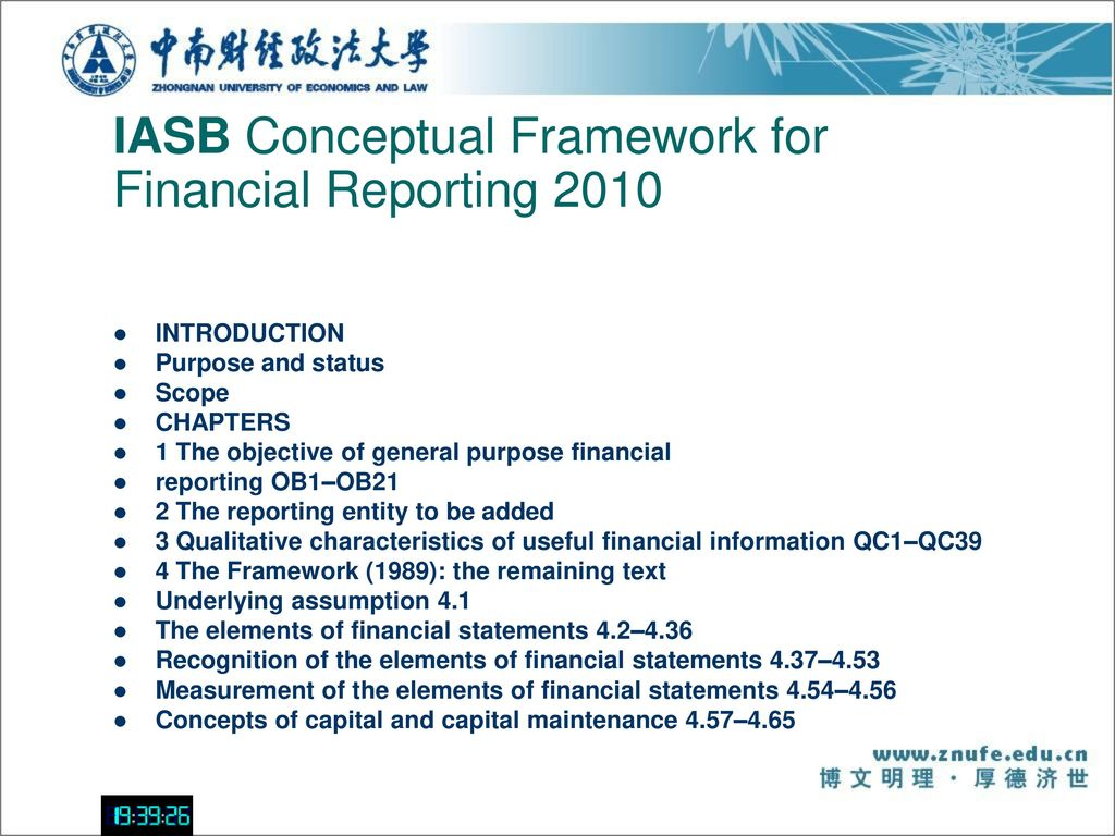 Financial report based on the iasb