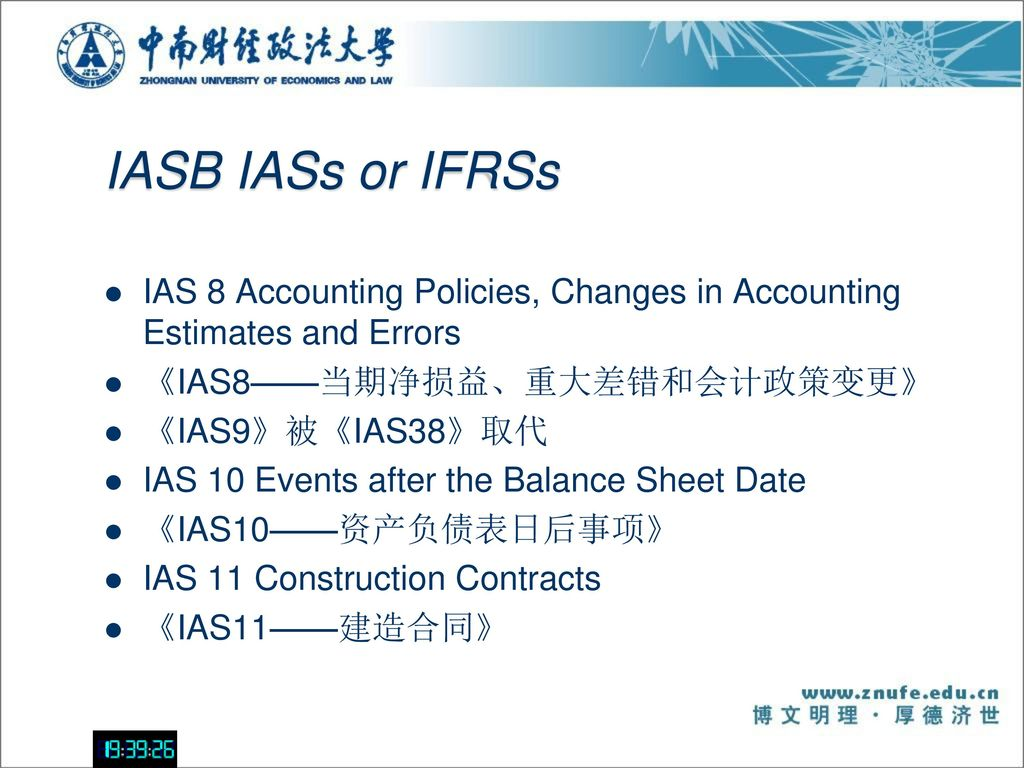 accounting estimates and policy Change in accounting policies must be applied retrospectively whereas estimates must be revised prospectively prior period errors must be corrected retrospectively.