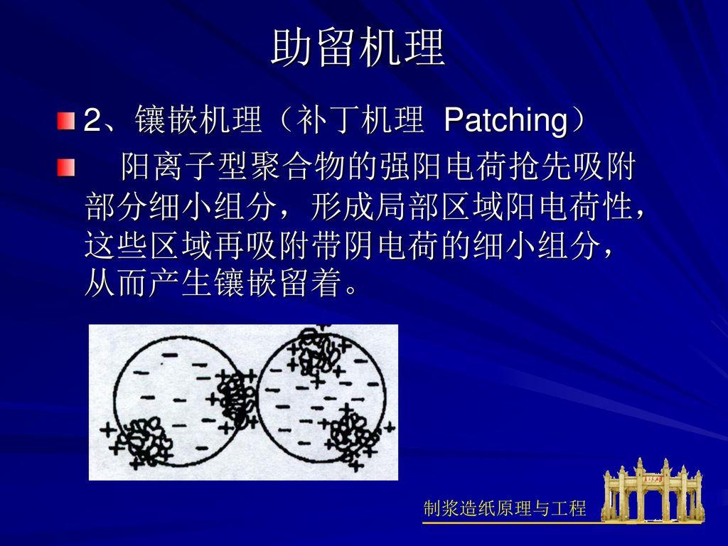 助留机理 2、镶嵌机理(补丁机理 Patching)