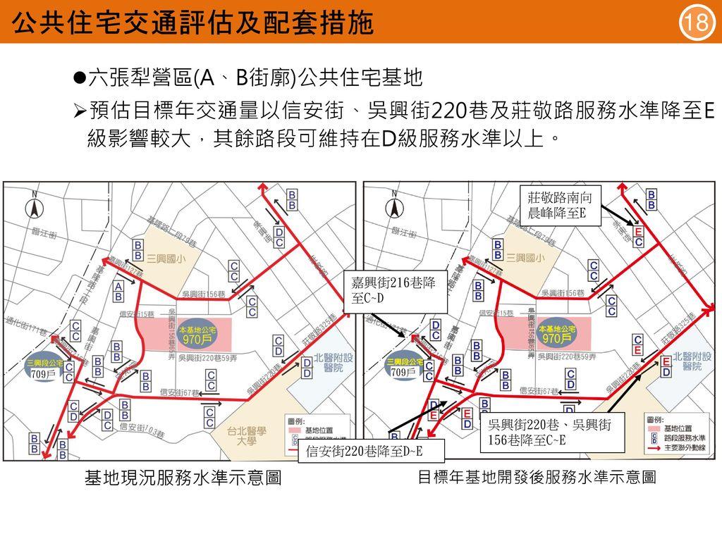 公共住宅交通評估及配套措施 18 六張犁營區(A、B街廓)公共住宅基地
