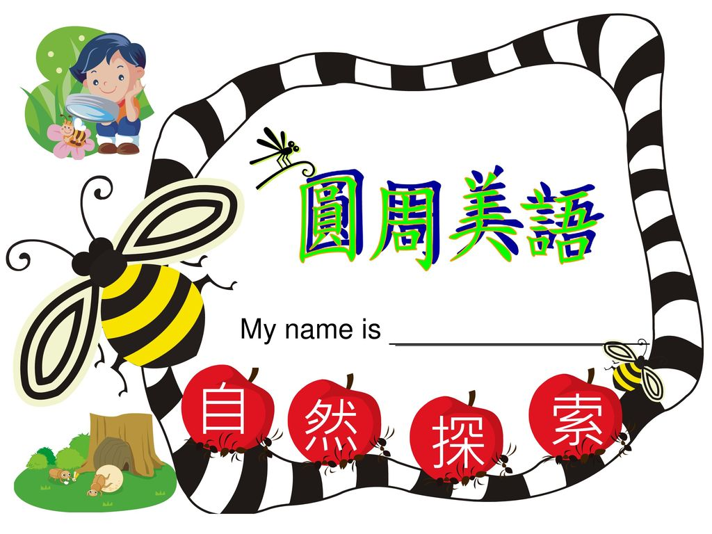 自 然 探 索 圓周美語 My name is