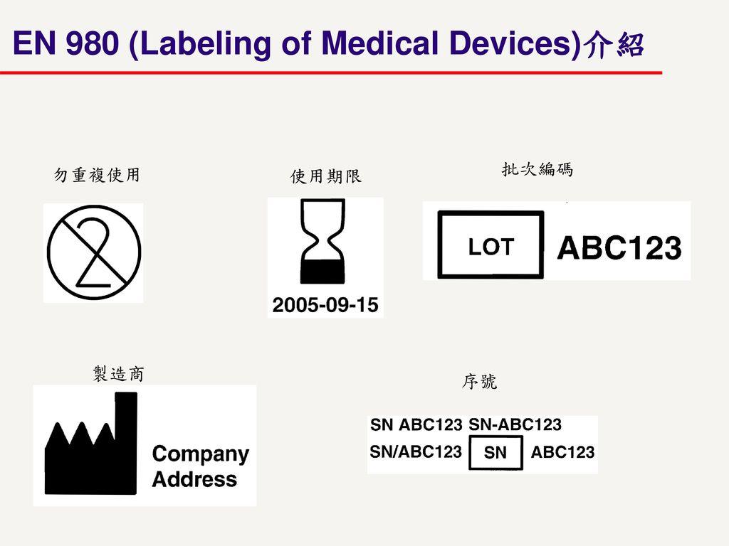 EN 980 (Labeling of Medical Devices)介紹