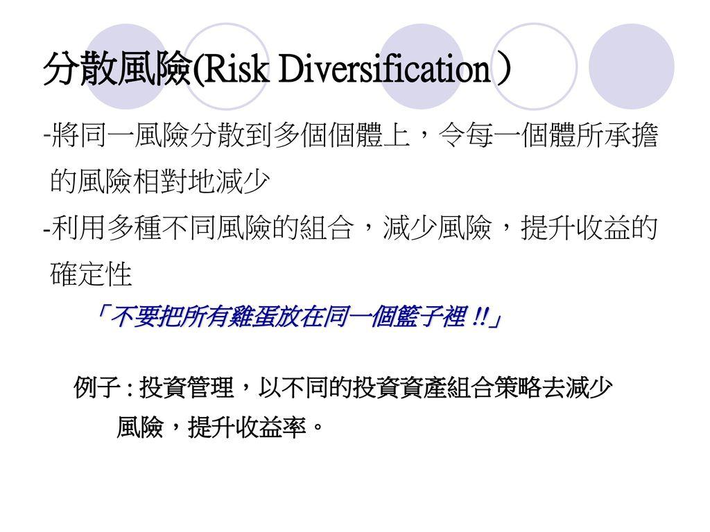 分散風險(Risk Diversification)