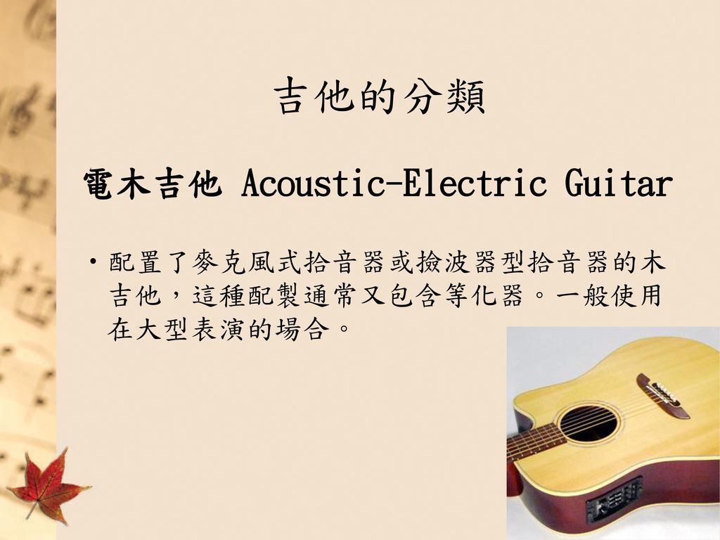 吉他的分類 電木吉他 Acoustic-Electric Guitar
