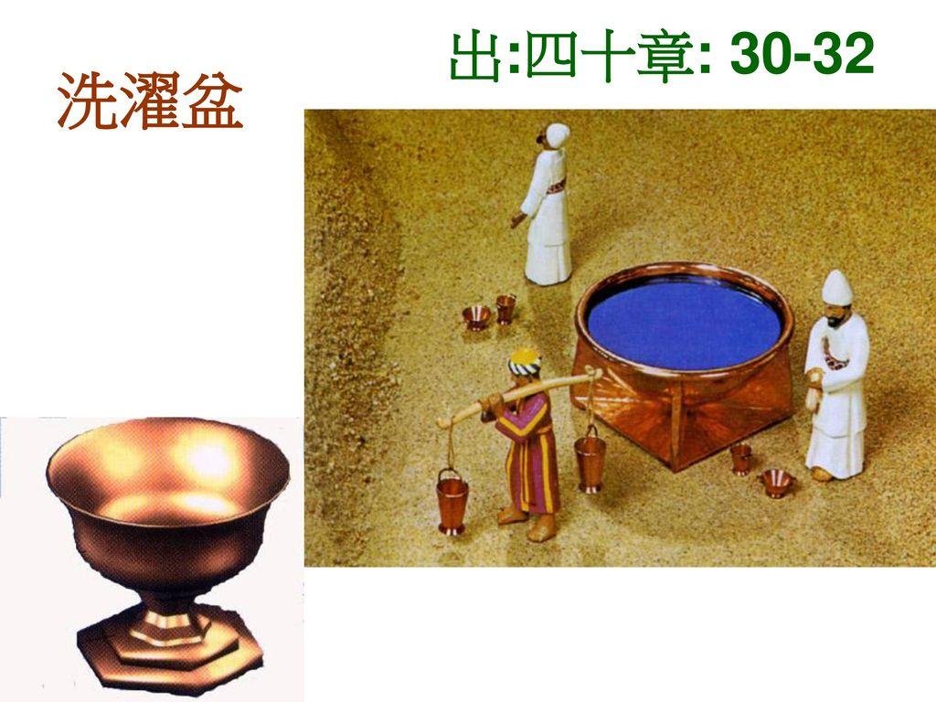 出:四十章: 30-32 洗濯盆