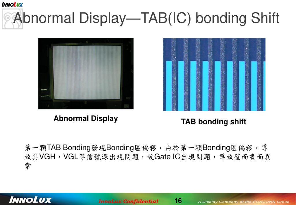 Abnormal Display—TAB(IC) bonding Shift