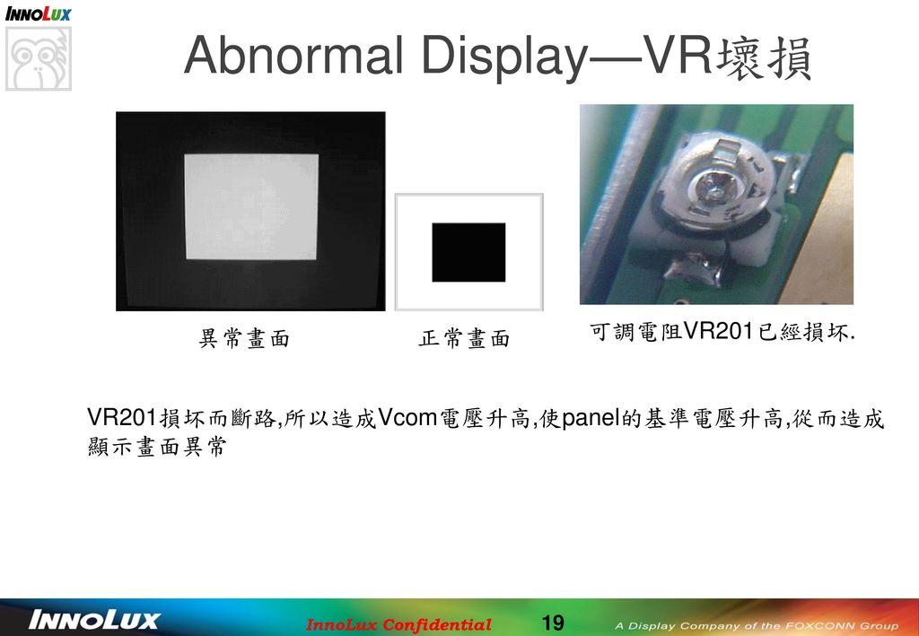 Abnormal Display—VR壞損