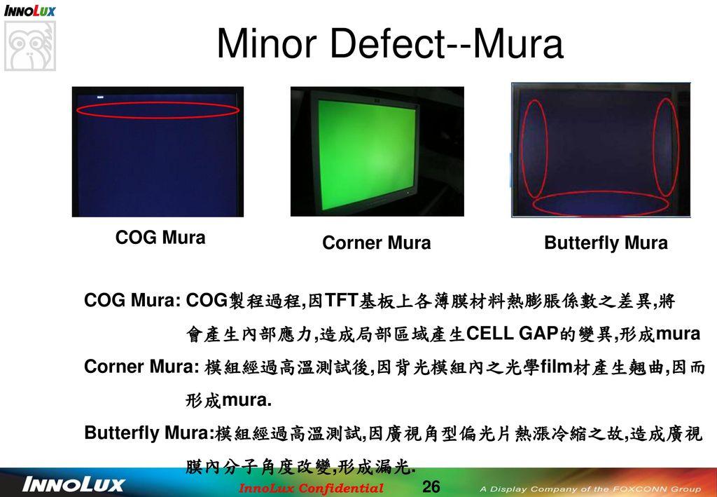 Minor Defect--Mura COG Mura Corner Mura Butterfly Mura