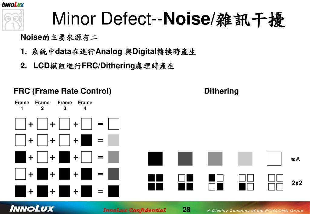Minor Defect--Noise/雜訊干擾