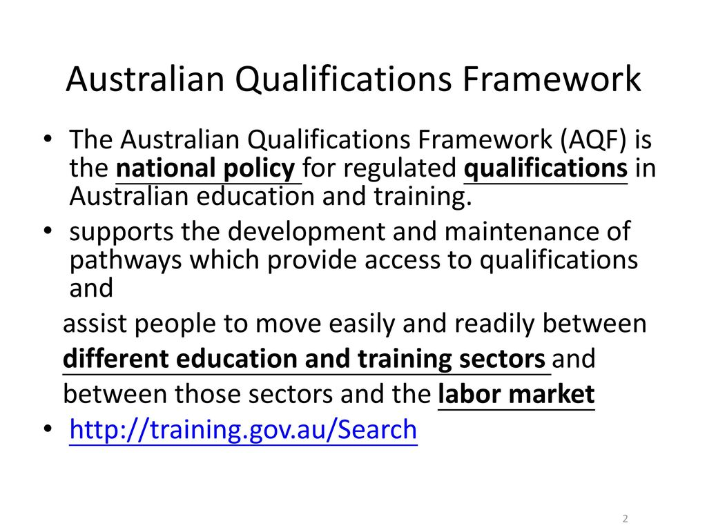Australian Qualifications Framework