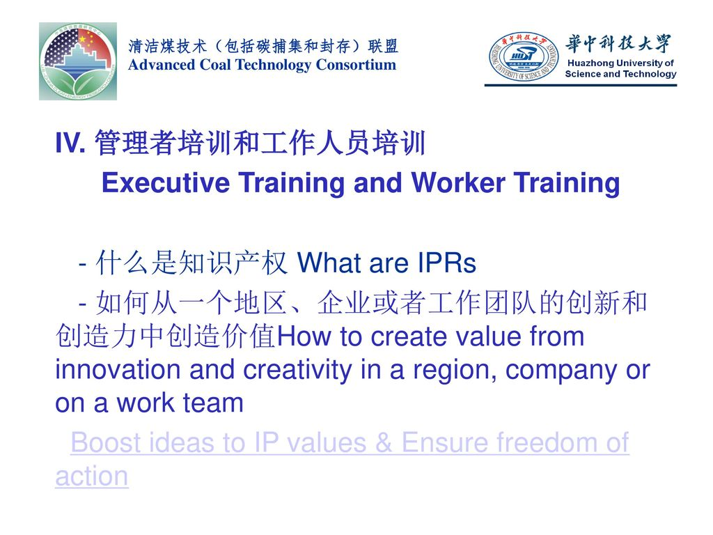 Executive Training and Worker Training - 什么是知识产权 What are IPRs