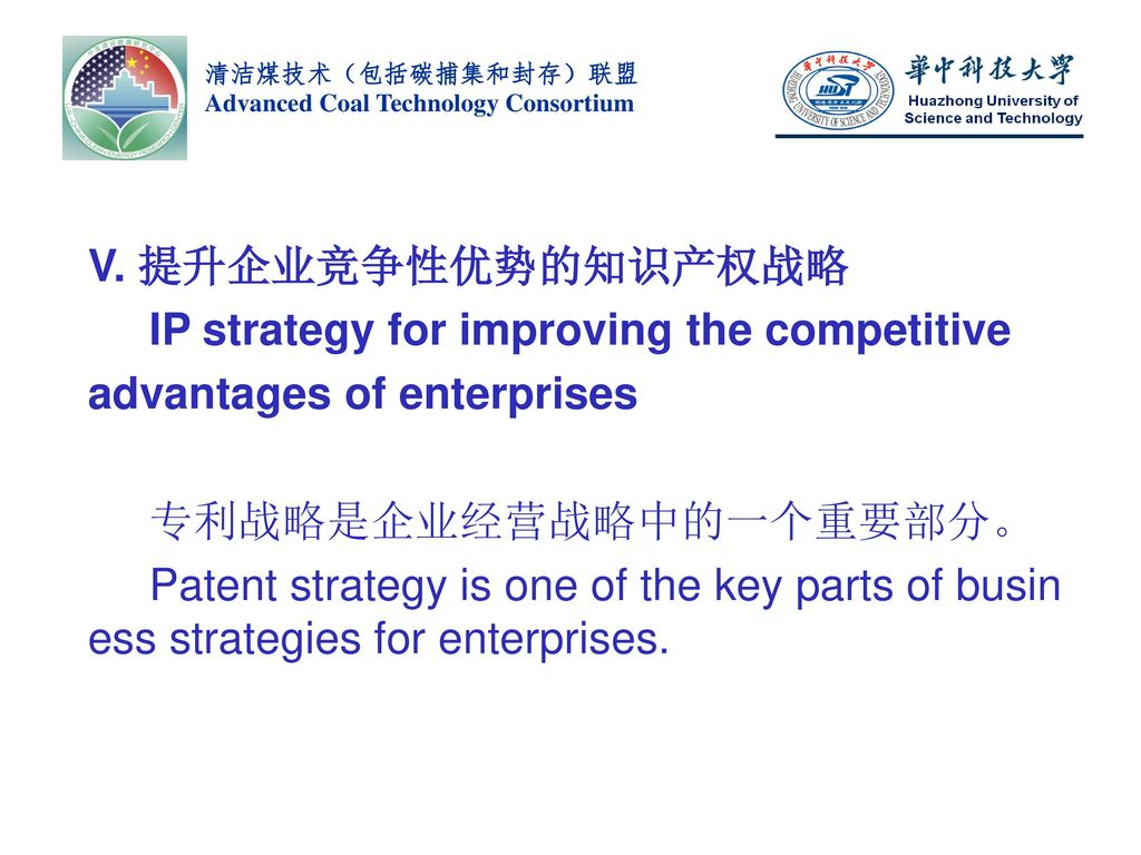 IP strategy for improving the competitive advantages of enterprises