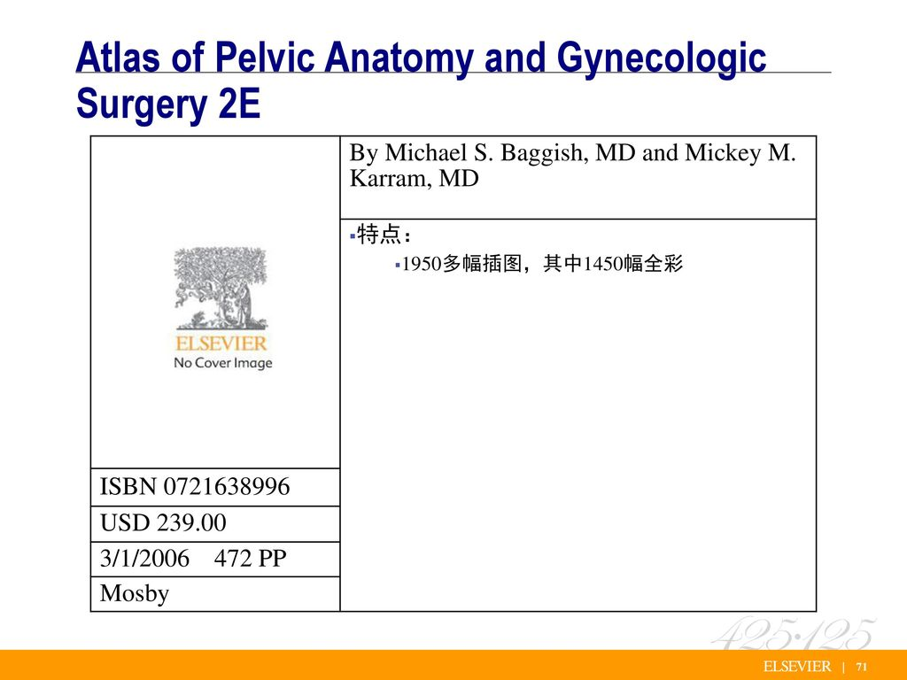 Atlas of pelvic anatomy and gynecologic surgery 3238801 ...