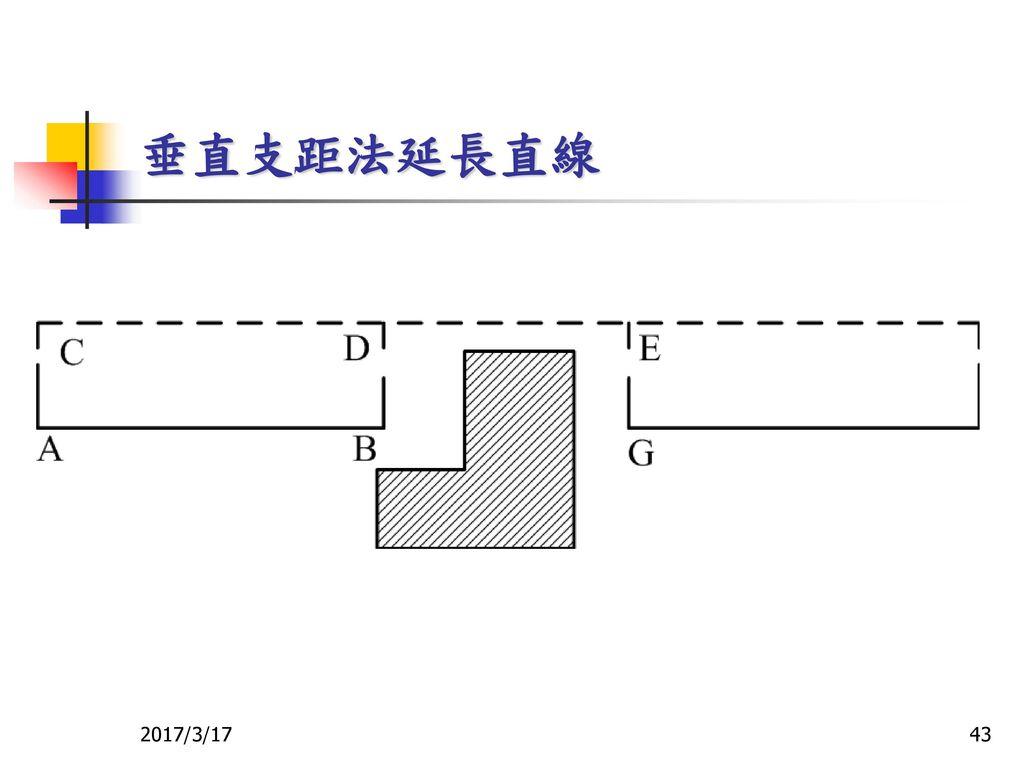 垂直支距法延長直線 2017/3/17