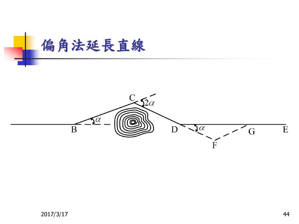 偏角法延長直線 2017/3/17