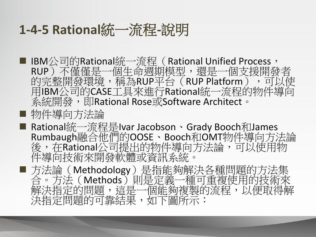 1-4-5 Rational統一流程-說明