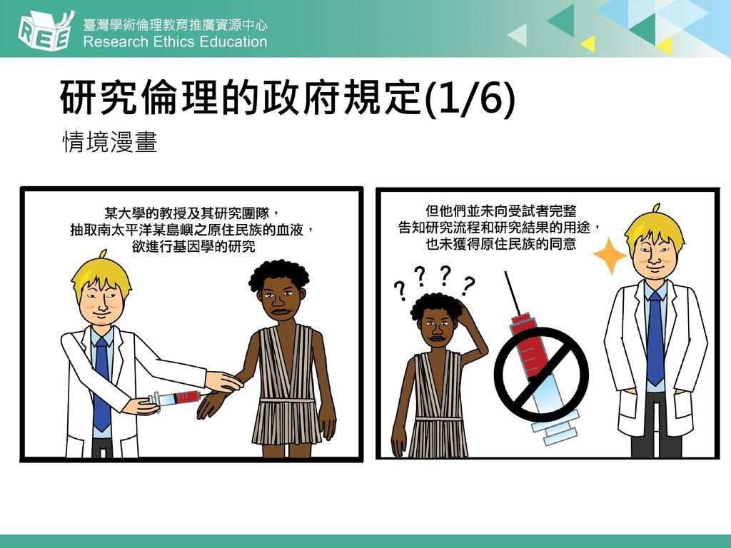 研究倫理的政府規定(1/6) 情境漫畫