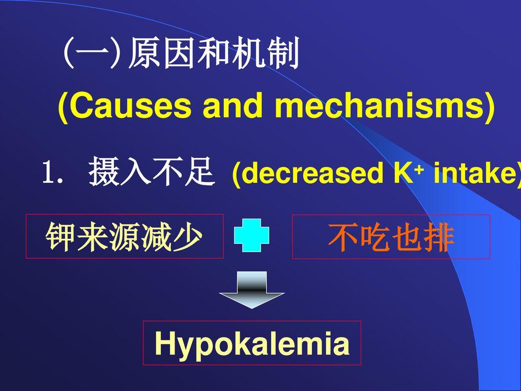 (一)原因和机制 (Causes and mechanisms)