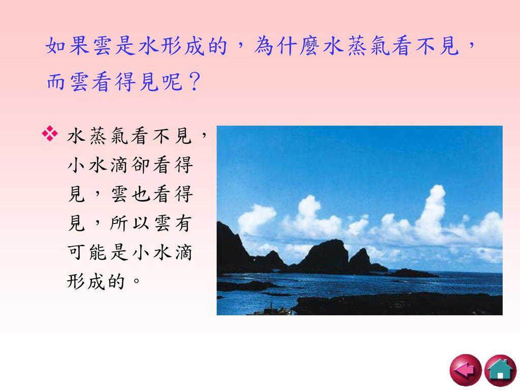如果雲是水形成的,為什麼水蒸氣看不見,而雲看得見呢?