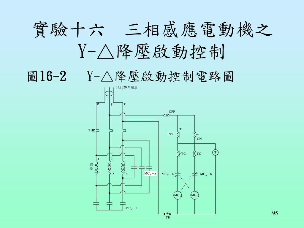 實驗十六 三相感應電動機之Y-△降壓啟動控制