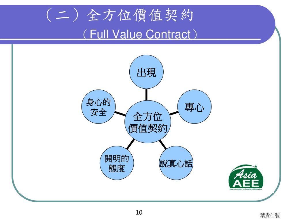 (二)全方位價值契約 (Full Value Contract)
