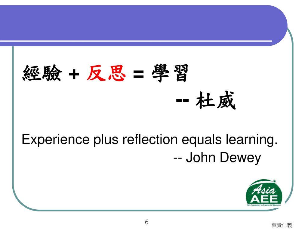 體驗學習的哲學基礎與操作原則 (一)經驗學習圈 (Experiential Learning Cycle) (二)全方位價值契約