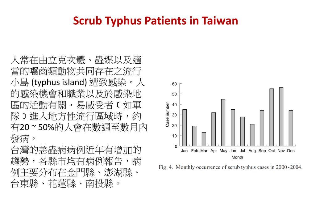 Scrub Typhus Patients in Taiwan