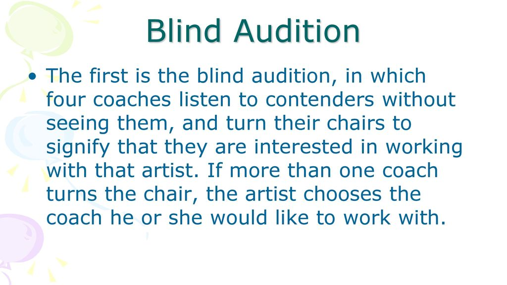 Blind Audition