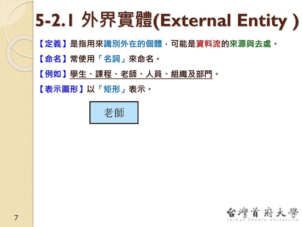 5-2.1 外界實體(External Entity )