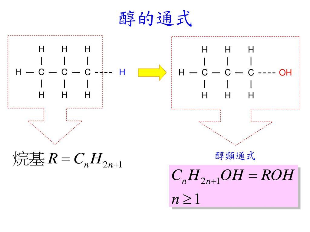 醇的通式 醇類通式