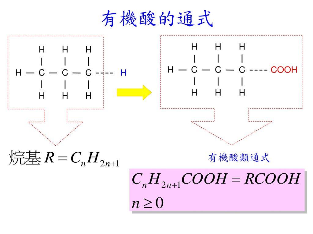 有機酸的通式 有機酸類通式