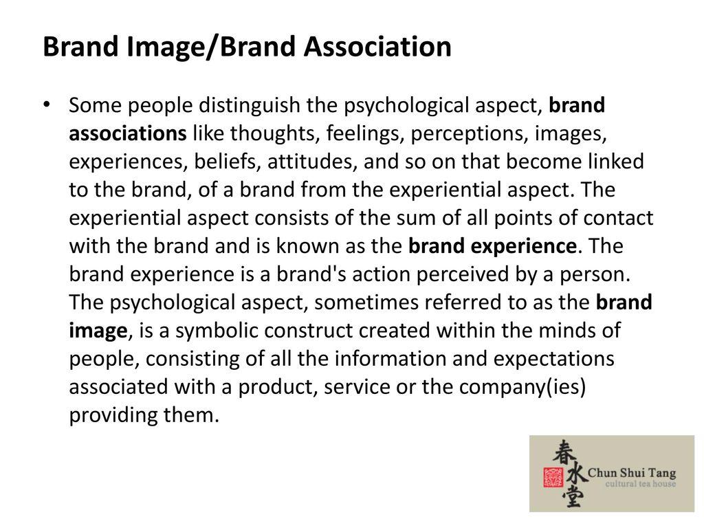 Brand Image/Brand Association