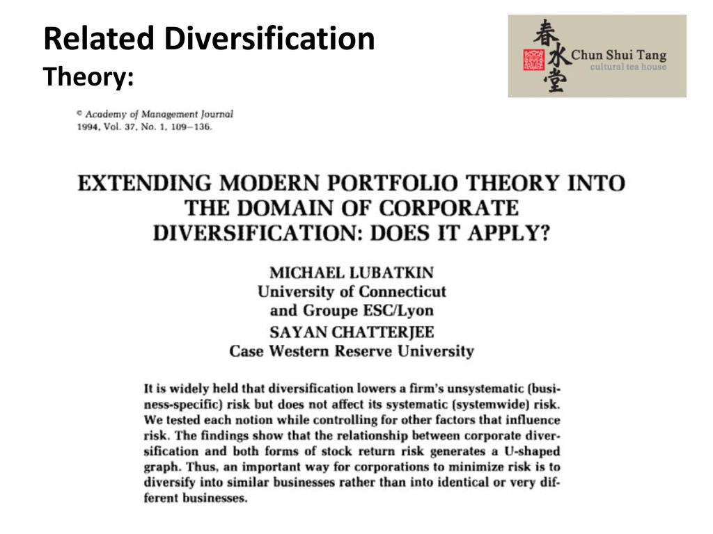 Related Diversification Theory: