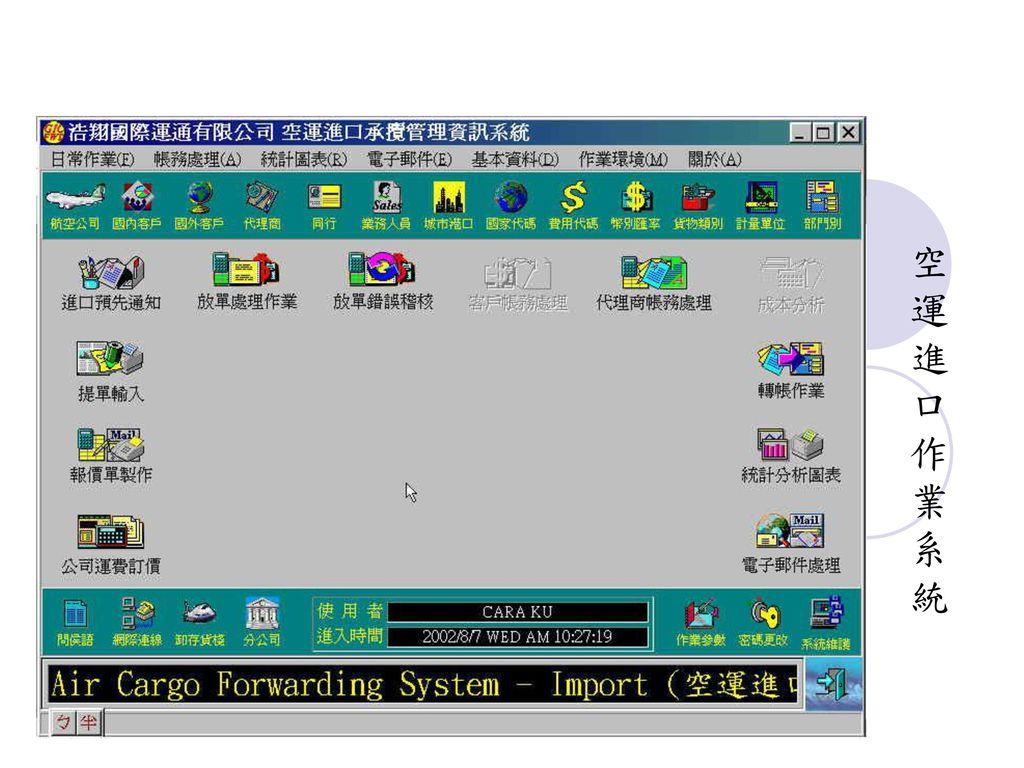 空 運 進 口 作 業 系 統