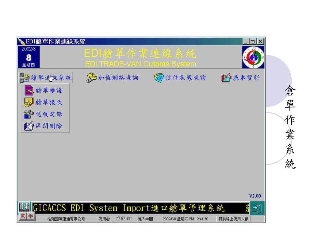 倉 單 作 業 系 統