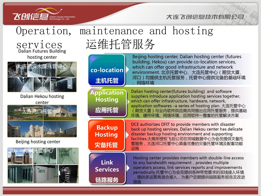 Operation, maintenance and hosting services 运维托管服务