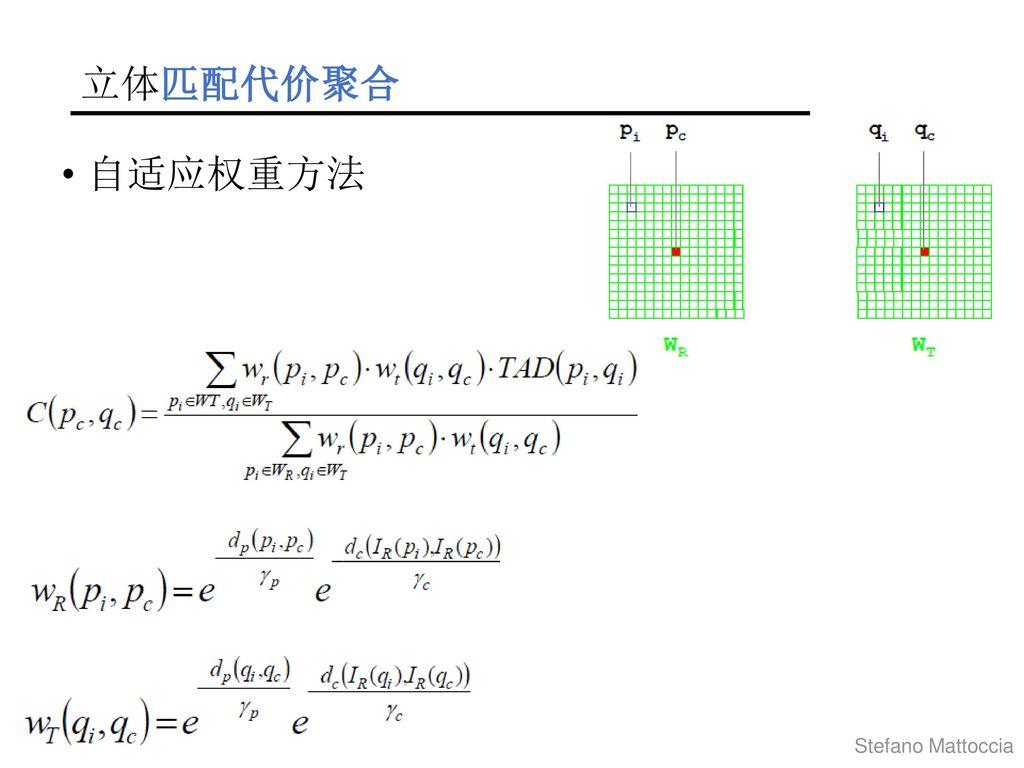 立体匹配代价聚合 自适应权重方法 Stefano Mattoccia