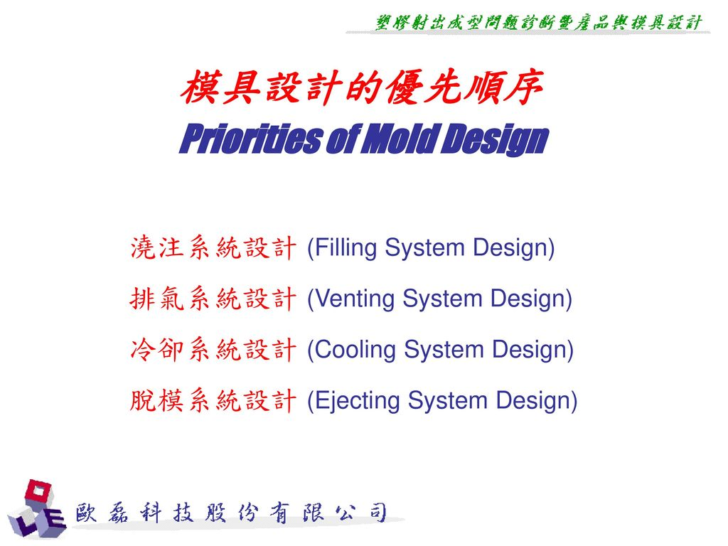 Priorities of Mold Design