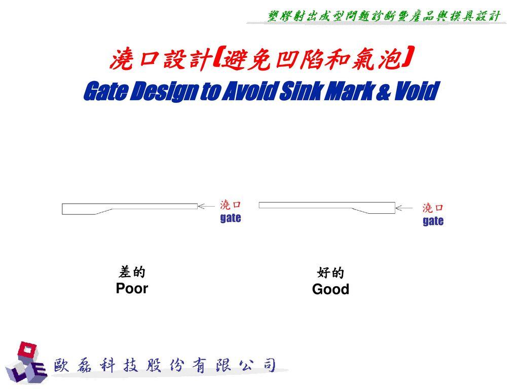 Gate Design to Avoid Sink Mark & Void