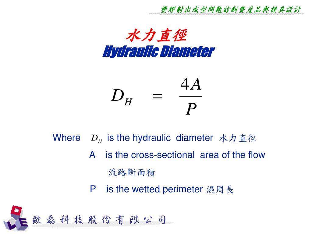 水力直徑 Hydraulic Diameter Where is the hydraulic diameter 水力直徑