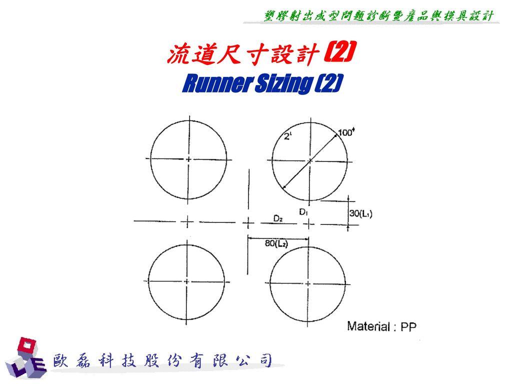 流道尺寸設計 (2) Runner Sizing (2)