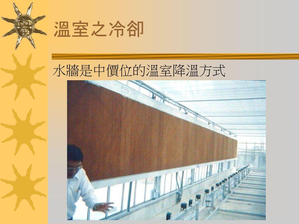 溫室之冷卻 水牆是中價位的溫室降溫方式