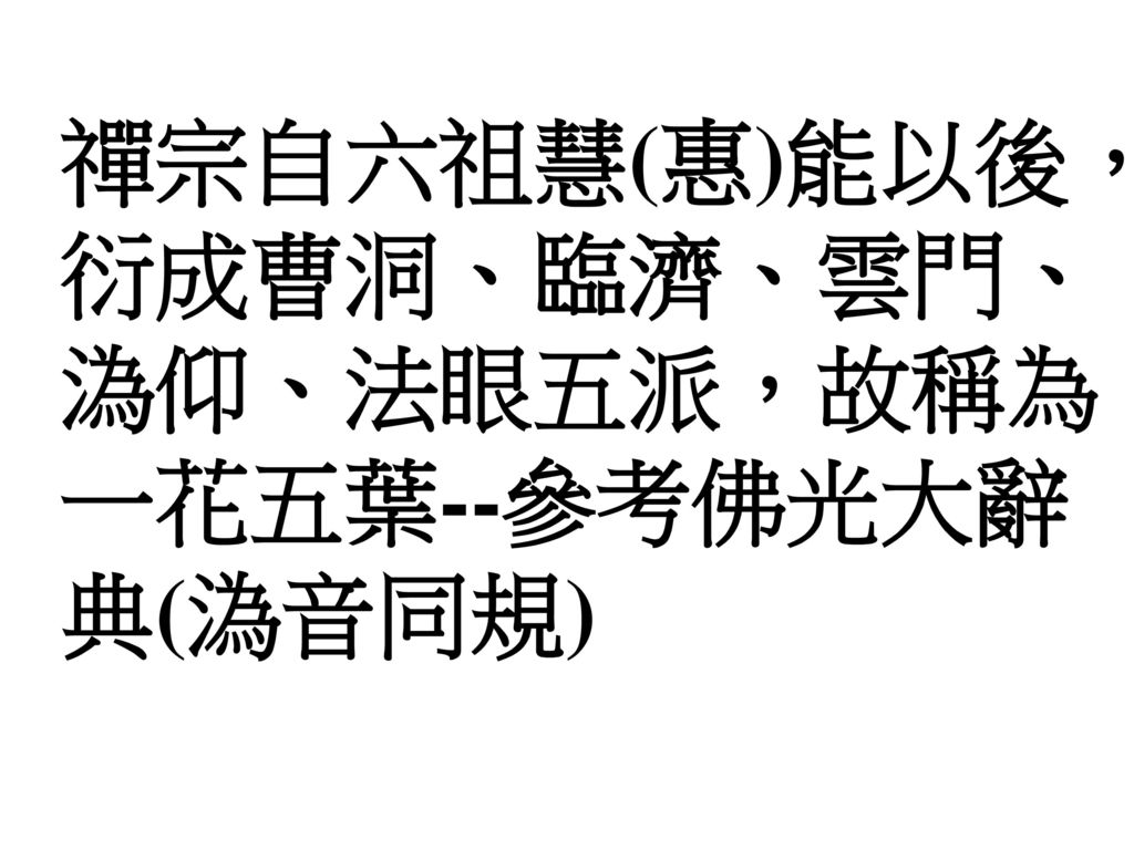 961231綜合成全班講題: 六祖惠能大師行誼.