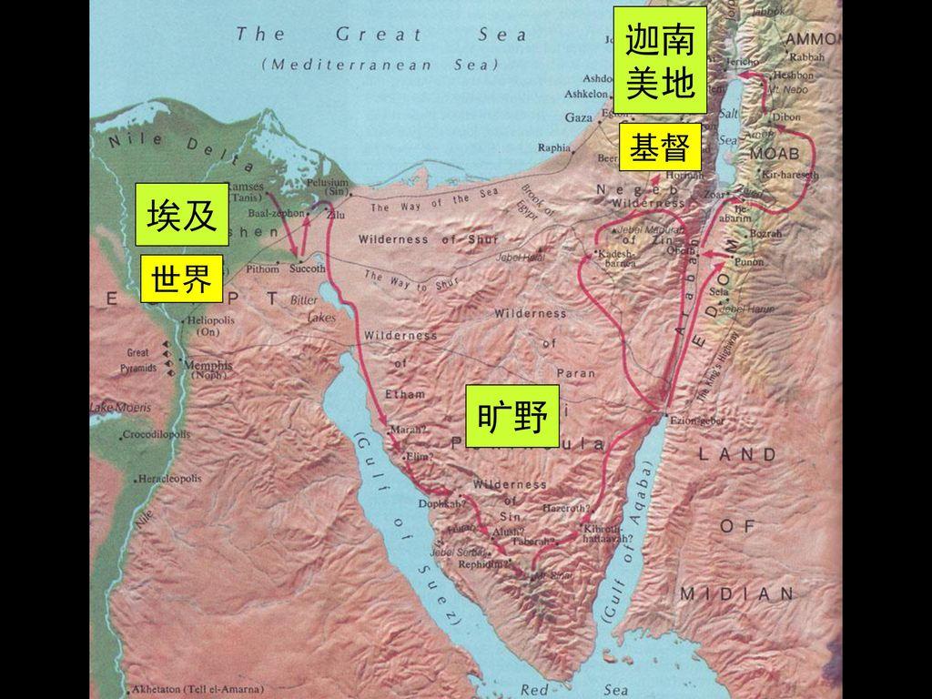 迦南 美地 基督 埃及 世界 旷野.