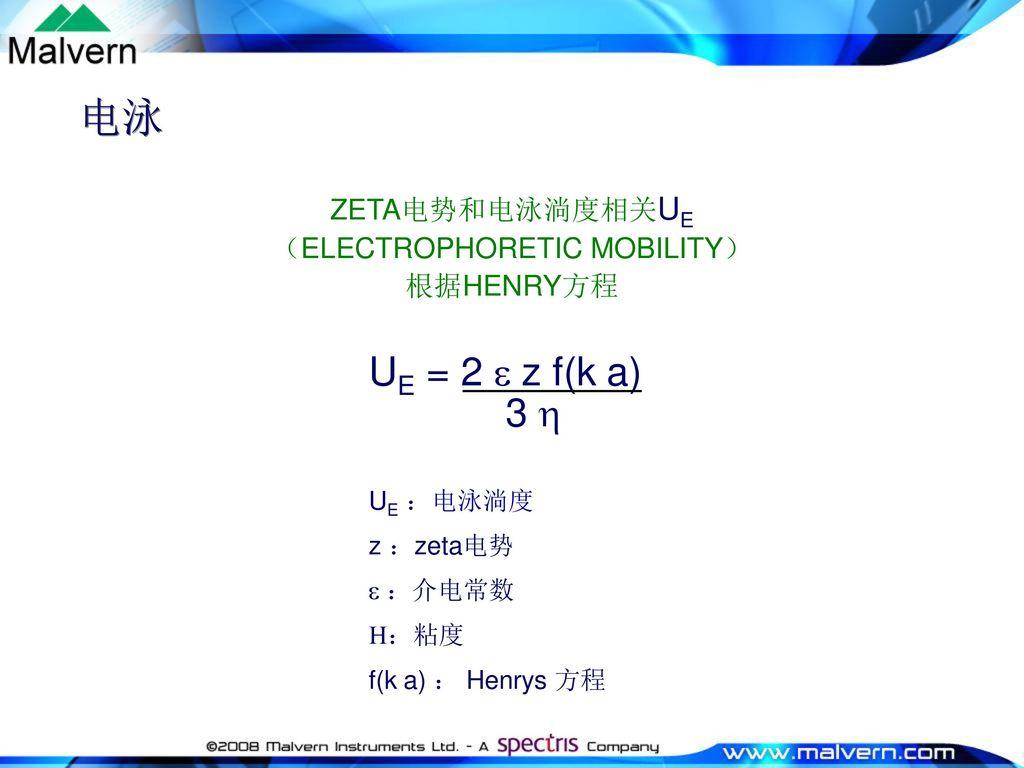 (ELECTROPHORETIC MOBILITY)