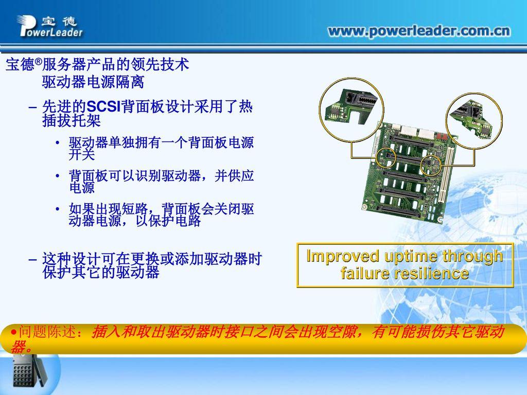 宝德®服务器产品的领先技术 驱动器电源隔离