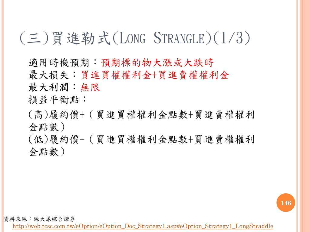 (三)買進勒式(Long Strangle)(1/3)