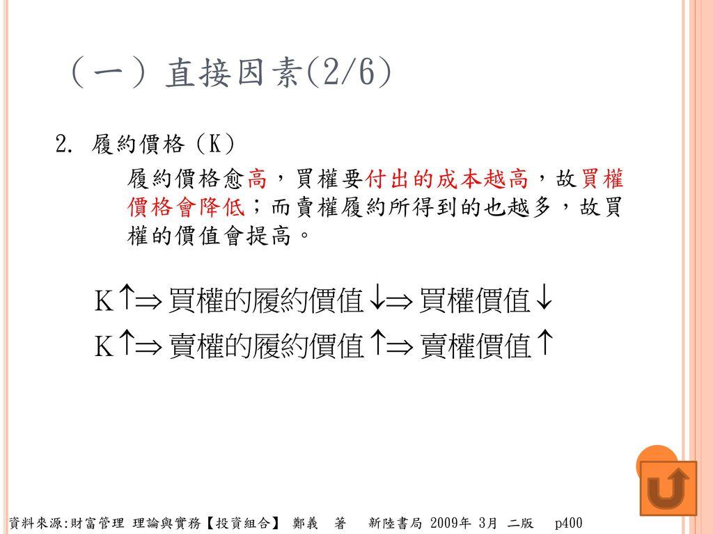 (一)直接因素(2/6) 2.